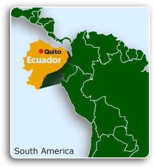 Ecuador & Quito Map